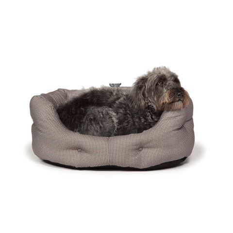Danish Design Vintage Dogstooth Deluxe Slumber Bed 89cm