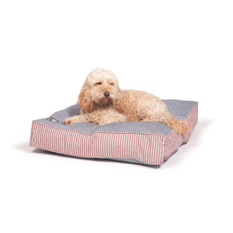 Danish Design Red Maritime Box Duvet Dog Bed Medium
