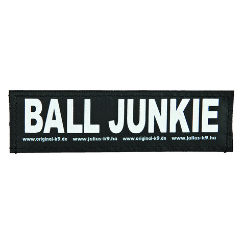 Julius K9 Powerharness Reflective Velcro Ball Junkie Stickers Large