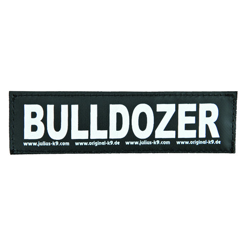 Julius K9 Powerharness Reflective Velcro Bulldozer Stickers Small