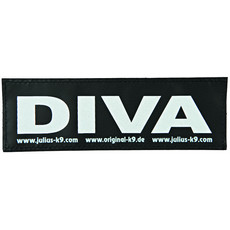 Julius K9 Powerharness Reflective Velcro Diva Stickers Large