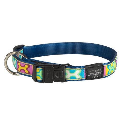Rogz Pop Art Buckle Adjustable Dog Collar X Large
