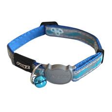 Rogz Blue Night Cat Breakaway Buckle Adjustable Cat Collar