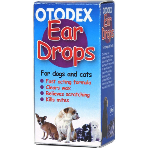Otodex Veterinary Ear Drops For Cats And Dogs 14ml