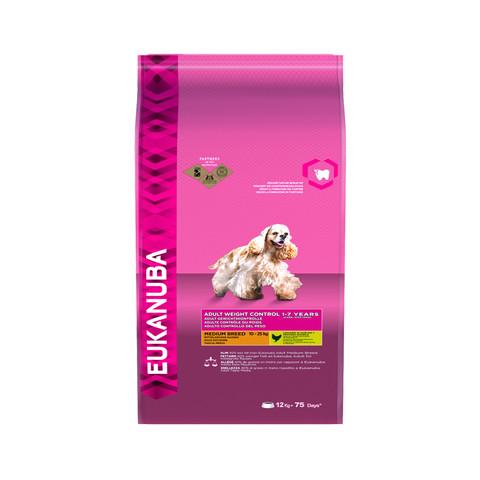 Eukanuba Adult Weight Control Medium Breed Dry Dog Food 12kg