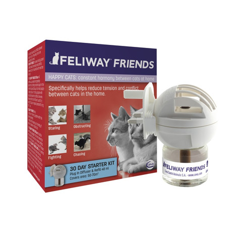 Feliway Friends Starter Kit For Cats (plug-in Diffuser And 30 Day Refill) 48ml