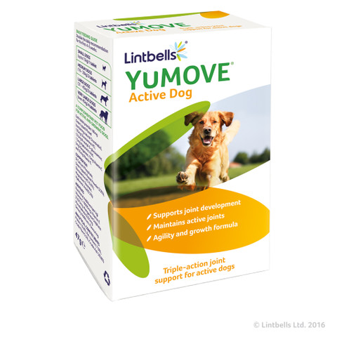 Lintbells Yumove Young And Active Joint Care Supplement Tablets For Dogs 60 Tab