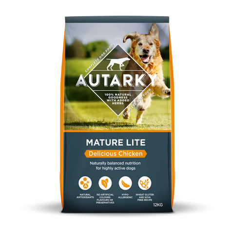 Autarky Delicious Chicken Mature Lite Dog Food 12kg