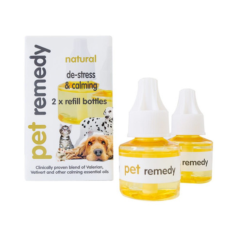 Pet Remedy Natural De-stress And Pet Calming Plug In Diffuser Refill Twin Pack 2 X 40ml