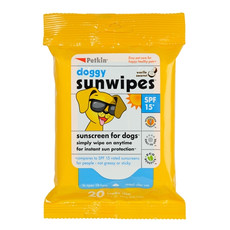 Petkin Sunscreen Sunwipes For Dogs Spf15 20 Pack