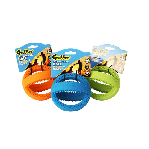 Happy Pet Grubber Interactive Football Dog Toy Mini To 3 X Mini