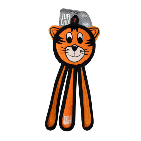 Happy Pet Tuff Enuff Tiger Dangles Dog Toy Small