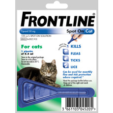 Frontline Spot On Flea Drops For Cats And Kittens 1 Pipette