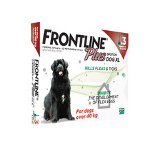 Frontline Plus Spot On Flea Drops For Extra Large Dogs And Puppies (40-60kg) 3 Pipette