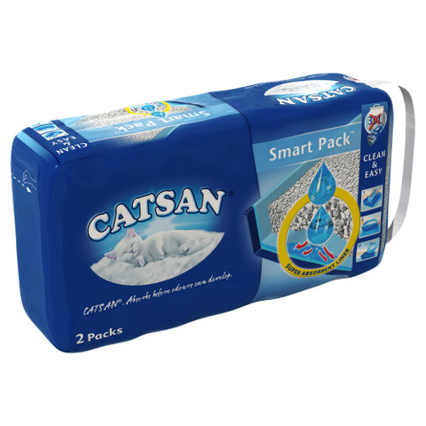 Catsan Hygiene Non Clumping Cat Litter Smart Packs 2x4 Litre