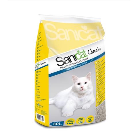 Sanicat Classic Non Clumping Cat Litter 30 Litre