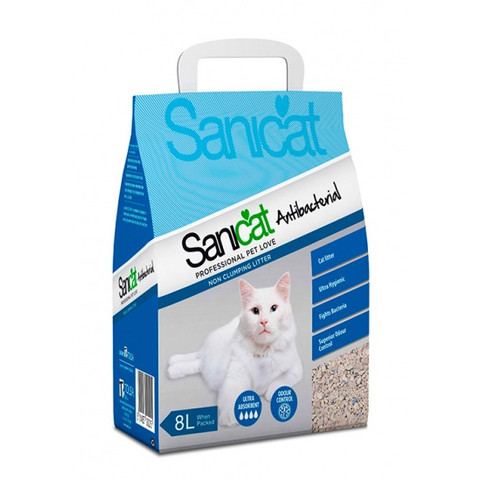 Sanicat Antibacterial Non Clumping Cat Litter 25l