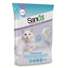 Sanicat Diamonds Silica Non Clumping Cat Litter 3.8 Litre