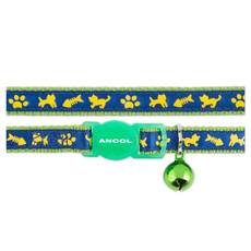 Ancol Green Cat And Fish Cat Collar