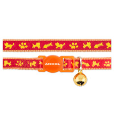 Ancol Orange Cat And Fish Cat Collar