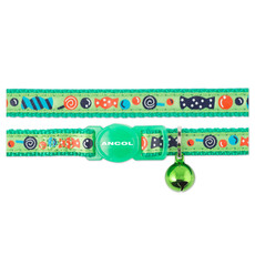 Ancol Green Sweeties Cat Collar