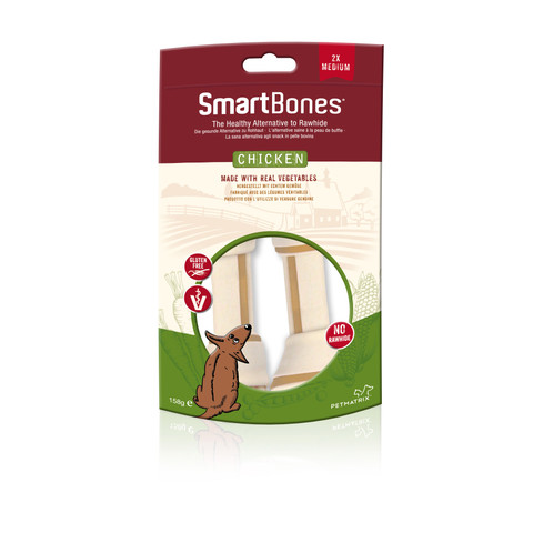 Smartbones Medium Chicken Bone Chews For Dogs 2 Pack To 7 X 2 Pack