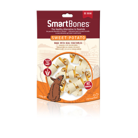 Smartbones Mini Sweet Potato Bone Chews For Dogs 8 Pack