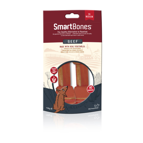 Smartbones Medium Beef Bone Chews For Dogs 2 Pack