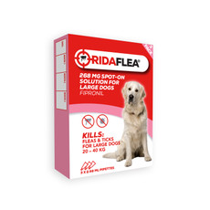 Ridaflea Spot-on Solution Dog 268mg For Large Dogs And Puppies 20-40kg 3 Pipette