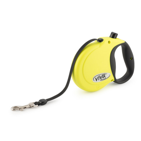 Ancol Viva High Visibility Extending Reflective 5 Metre Tape Dog Lead Small