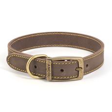 Ancol Heritage Timberwolf Leather Sable Buckle Dog Collar Medium