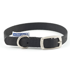 Ancol Heritage Nylon Black Buckle Dog Collar Small