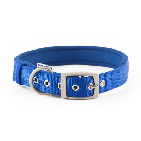 Ancol Heritage Padded Nylon Blue Buckle Dog Collar Medium