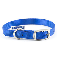 Ancol Heritage Nylon Blue Buckle Dog Collar Small