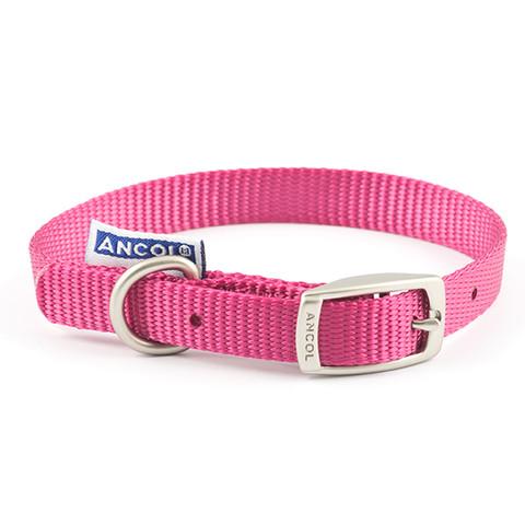 Ancol Heritage Nylon Raspberry Buckle Dog Collar Small