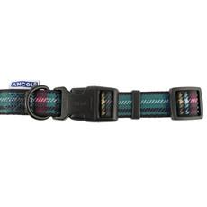 Ancol Indulgence Fashion Purple And Green Tartan Check Adjustable Dog Collar Large