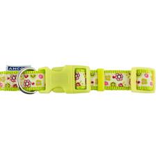 Ancol Indulgence Fashion Lime Flowers Adjustable Dog Collar Small