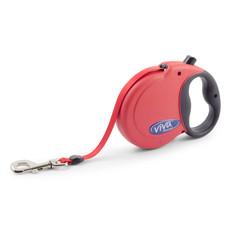 Ancol Viva Red Extending 6.8 Metre Tape Dog Lead X Large