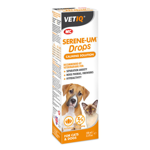 Mark And Chappell Vetiq Serene-um Calming Drops For Dogs And Cats 100ml