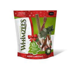 Whimzees Christmas Assorted Variety Value Pack Dental Treats For Small Dogs