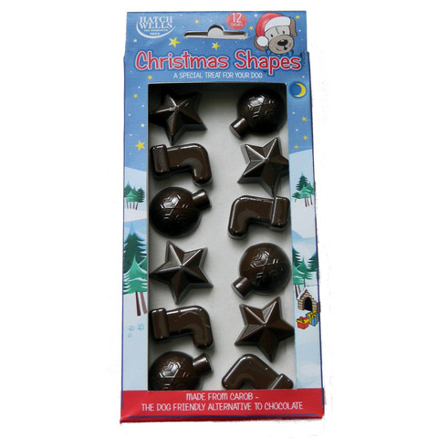 Hatchwells Christmas Carob Shapes Dog Treat