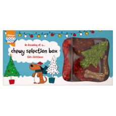 Armitage Christmas Good Boy Chewy Selection Dog Treat Box
