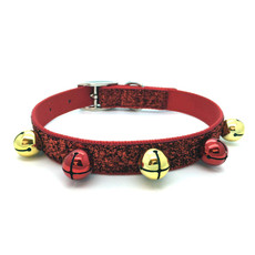 Ancol Christmas Party Red Glitter Dog Collar 39-53cm