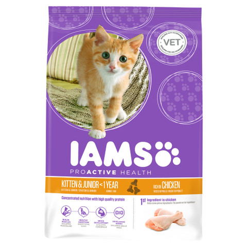 Iams Kitten And Junior Food With Chicken 2.55kg