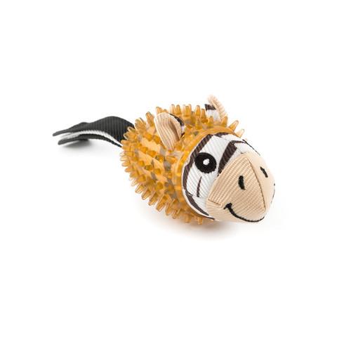 Ancol Small Bite Zebra Safari Ball Dog Toy