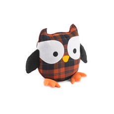 Ancol Comfort Tartan Owl (no Squeak) Dog Toy