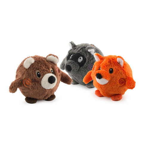 Ancol Bouncing Woodland Friends Dog Toy Small