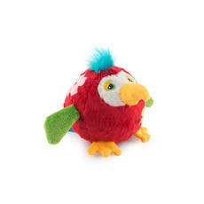 Ancol Chaser Bouncing Flower Birds Red Dog Toy Medium