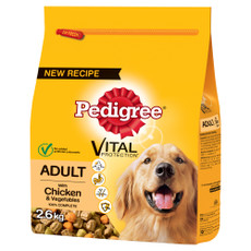 Pedigree Dry Dog Food With Chicken And Vegetables 2.6kg