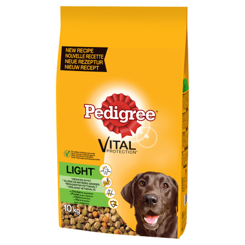 Pedigree Dry Light Dog Food With Chicken And Vegetables 10kg
